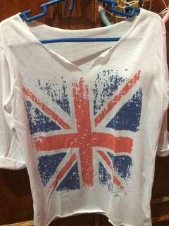White 3/4's Shirt
