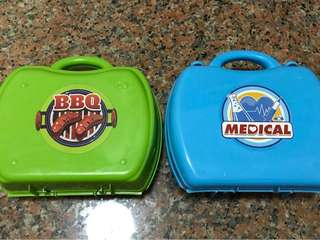 BBQ n Medical play sets