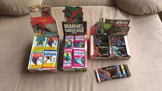 Marvel Universe Series II, III, and IV Booster Packs