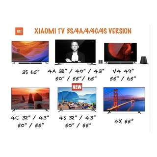 XIAOMI TV Frame and Frameless model 32/40/43/49/50/55/65 inches Available