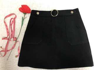 PurPur Black Skirt