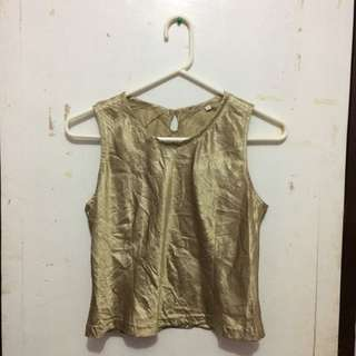 Gold Silk Top