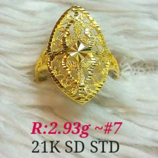 ( size: 7 ) 21K SAUDI GOLD RING '.....
