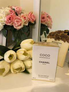 Chanel Mademoiselle Eau de parfum, 100ml, bought 234aud.