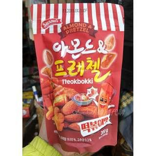 預購 韓國 Sunnuts 杏仁椒鹽脆餅 辣炒年糕口味 200g