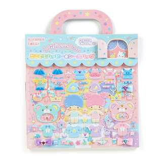 Sanrio 日本正版 Little Twin Stars 雙子星 換衫貼紙