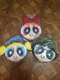 3pieces Power puff girls lunch box