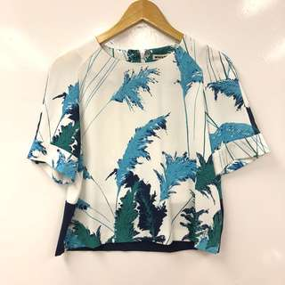 女裝上衣 Whistles white with blue top size EU 36