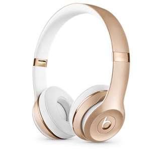Gold beats headphone