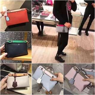 Fendi BY THE WAY colour matching handbag Boston mini shoulder messenger bag