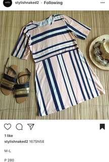 Light Pink Stripes Dress