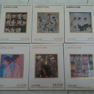 [READY STOCK] WANNA ONE UNDIVIDED UNSEALED ALBUMS