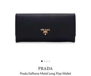 Prada Saffiano Black Wallet