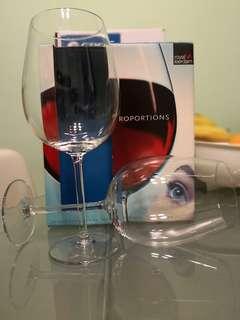 royal leerdam荷蘭玻璃大红酒杯一對
