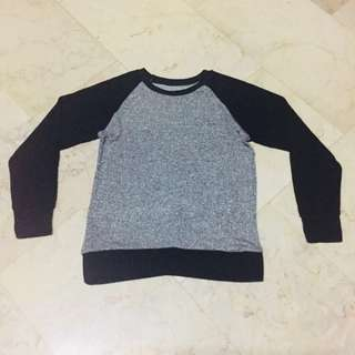 HTP Black and Silver Pullover