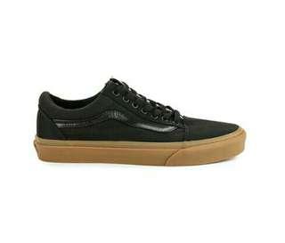 sepatu vans authentic black gum original