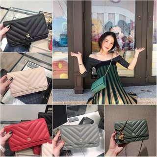 Chanel Bag New Twill woc Chain Bag Shoulder Messenger Bag