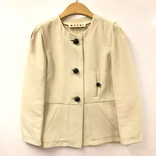 Marni cream white jacket size 40