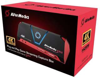 AVerMedia Live Gamer Portable 2 Plus (LGP2 Plus) - Get started on YouTube & Twitch - 4k Pass Through, Plug and play game capture, Stream, Record, and Share PS4, Xbox One, Wii U and Nintendo Switch gameplay in 1080p60