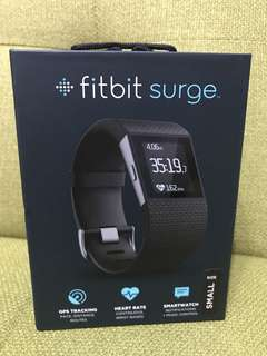 New Fitbit Surge ( small size ) black