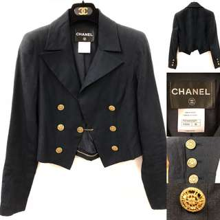 Chanel navy with gold buttons Jacket size 36