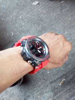 Jam tangan casio gshock sporty red