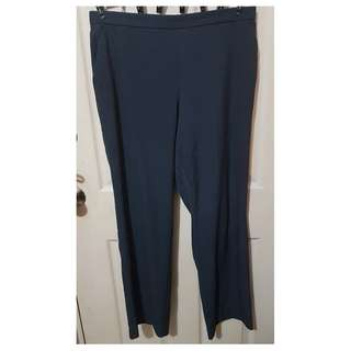 Preloved Plus-Size Gray Ladies Slacks with Gartered Waist