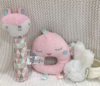 Pink bunny and friends