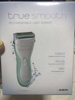 Babyliss True Smooth Rechargeable Lady Shaver