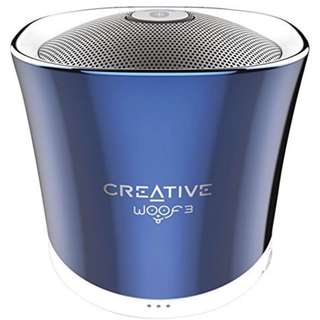 Creative Woof 3 Bluetooth Speaker Crystallite Blue (company giveaway with logo)