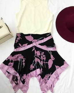 Purple printed skirt