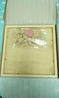 🚚 婚禮使用 愛心木片投幣式簽名相框(可議價)