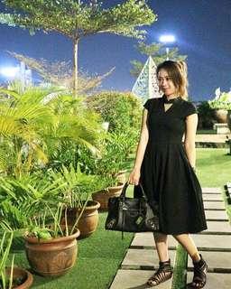 Dress Hitam Ada Fashion