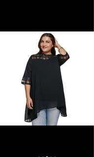 PLUS SIZE Chic 3/4 Sleeve Blouse