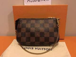 Authentic Louis Vuitton Mini Pochette Damier Ebene