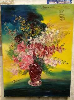 Jual lukisan gambar bunga