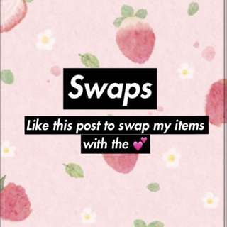 Swaps! Only items marked 💕:)