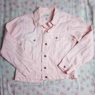 Forever 21 Pastel Pink Denim Jacket FREE SHIPPING WITHIN MM
