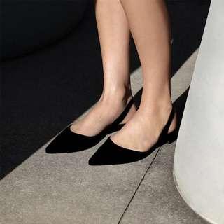 🚚 尖頭低跟平底鞋