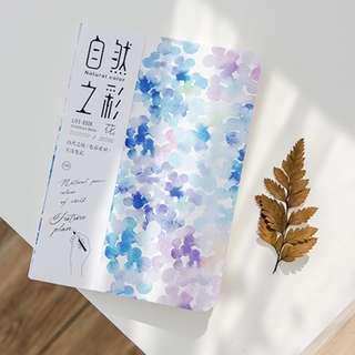 A5 aesthetic notebook (flower/purple)