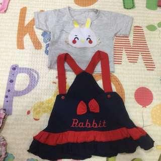 Set baby dress