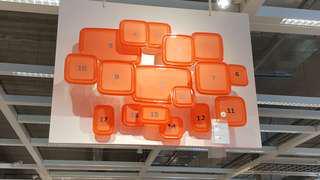 IKEA PRUTA Food Containerd Set of 17
