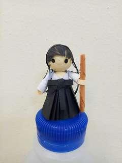Handmake quilling cute Japanese gal