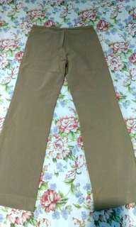 Mango Moss Green Slacks