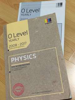 O'level Physics Yearly TYS (with answer booklet)