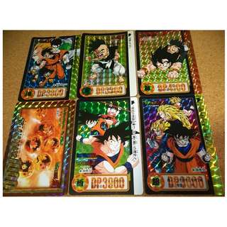 Dragonball carddass Hondan part 25 prism cards set