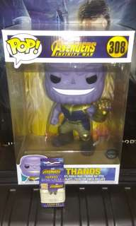 "Thanos Super-sized 10"" & Keychain Avengers Infinity War Marvel Exclusive Funko Pop Bundle"