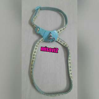 Doggy Man Harness/Tali Badan Anjing/Kucing Warna Biru Ukuran SS