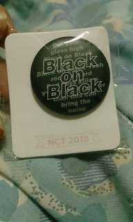 NCT 2018 Black on Black Badge