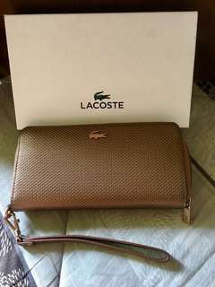 Original LACOSTE zippy long wallet